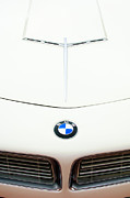 Pebble Beach 2011 Prints - 1958 BMW 507 Roadster Hood Emblem Print by Jill Reger