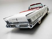 Car Posters Posters - 1958 Buick Limited Convertible Poster by Sanely Great