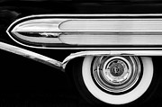 Monochrome Hot Rod Prints - 1958 Buick Special abstract Print by Tim Gainey
