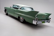 Green Posters Digital Art - 1958 Cadillac DeVille by Sanely Great