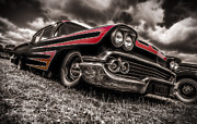 Aotearoa Photo Metal Prints - 1958 Chev Biscayne Metal Print by motography aka Phil Clark