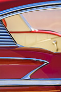 Red Chevrolet Prints - 1958 Chevrolet Belair Abstract Print by Jill Reger