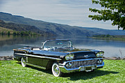 Family Car Prints - 1958 Chevrolet Impala Convertible Print by Dave Koontz