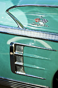 Old Cars Posters - 1958 Chevrolet Impala Emblem Poster by Jill Reger