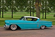 1958 Chevrolet Impala Framed Prints - 1958 Chevrolet Impala Low Rider Framed Print by Tim McCullough