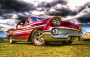 Red Chevrolet Prints - 1958 Chevrolet Impala Print by Phil