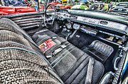 Ron Roberts Photography Posters - 1958 Chevy Impala Interior Poster by Ron Roberts