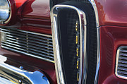 Auto Photography Framed Prints - 1958 Edsel Pacer Grille 2 Framed Print by Jill Reger