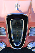 Automobile Abstract Photography Prints - 1958 Edsel Pacer Grille Print by Jill Reger