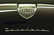 Ford Posters - 1958 Ford Fairlane 500 Victoria Hood Ornament Poster by Jill Reger