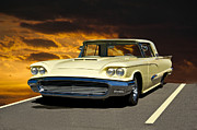 Custom Ford Metal Prints - 1958 Ford Thunderbird Metal Print by Dave Koontz
