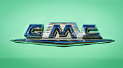 Old Photos Framed Prints - 1958 GMC Suburban Emblem Framed Print by Jill Reger
