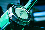 Gmc Photos - 1958 GMC Suburban Steering Wheel Emblem by Jill Reger