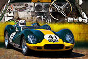Knobbly Framed Prints - 1958 Lister Jaguar Knobbly Replica Framed Print by Stuart Row