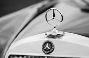 1958 Framed Prints - 1958 Mercedes-Benz 220S Cabriolet Hood Ornament - Emblem Framed Print by Jill Reger