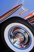 Bonneville Pictures Photos - 1958 Pontiac Bonneville Wheel Emblem by Jill Reger
