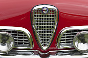 Auto Photography Framed Prints - 1959 Alfa Romeo Giulietta Sprint Grille Framed Print by Jill Reger