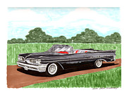 Automobile Framed Prints Painting Framed Prints - 1959 Bonneville Land Yacht Framed Print by Jack Pumphrey