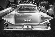 Custom Automobile Posters - 1959 Buick Electra 225 BW Poster by Rich Franco