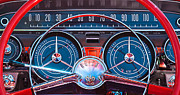 Wheel Photo Metal Prints - 1959 Buick Lesabre Steering Wheel Metal Print by Jill Reger