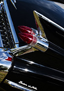 Gm Posters - 1959 Cadillac Sedan De Ville Bullet Tail Lights Poster by Tim Gainey