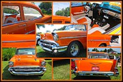 Quad Prints - 1959 Chevrolet 210 Collage Print by Margaret Newcomb
