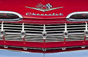 Grille Prints - 1959 Chevrolet Grille Ornament Print by Jill Reger