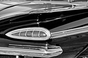 Tail Light Posters - 1959 Chevrolet Impala Tail Light Poster by Jill Reger