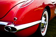 Red Street Rod Prints - 1959 Chevy Red Corvette Print by David Patterson