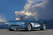 Transmission Framed Prints - 1959 Corvette Roadster 1 Framed Print by Dave Koontz