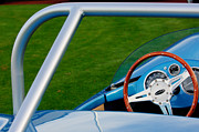 Racing Car Photographs Framed Prints - 1959 Devin SS Steering Wheel Framed Print by Jill Reger