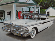 Chrome Mixed Media Prints - 1959 Edsel Ranger Print by Paul Kuras