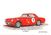 Because Posters - 1959 Ferrari 250 P F Coupe Poster by Jack Pumphrey