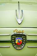 Beach Photographs Posters - 1959 Fiat 600 Derivazione 750 Abarth Hood Ornament Poster by Jill Reger