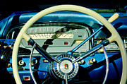 Fairlane Photos - 1959 Ford Fairlane Steering Wheel by Jill Reger