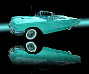 T-bird Posters - 1959 Ford Thunderbird Poster by Jim Carrell