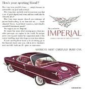 Advertisement Mixed Media Prints - 1959 Imperial Vintage Ad Print by Jack Pumphrey