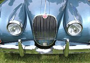 Allen Beatty Posters - 1959 Jaguar XK150 Poster by Allen Beatty