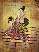 1959 Japanese Postcard Mail Print by Carol Leigh