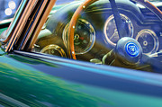 1960 Aston Martin Db4 Series II Steering Wheel Print by Jill Reger