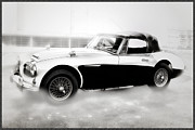 Austin Digital Art Posters - 1960 Austin Healey Poster by Bill Cannon