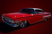 1960 Posters - 1960 Chevrolet Bel Air Poster by Tim McCullough