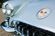 1960 Framed Prints - 1960 Chevrolet Corvette Hood Emblem Framed Print by Jill Reger