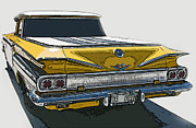 Samuel Sheats Posters - 1960 Chevrolet El Camino Poster by Samuel Sheats