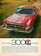 Rally Digital Art Posters - 1960 Chrysler 300G Poster by Nomad Art And  Design