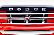 1960 Framed Prints - 1960 Dodge Truck Grille Emblem Framed Print by Jill Reger