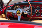 1960 Photo Metal Prints - 1960 Ferrari 250 GT Cabriolet Pininfarina Series II Steering Wheel Emblem Metal Print by Jill Reger
