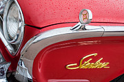 Collector Cars Posters - 1960 Ford Galaxie Starliner Hood Ornament - Emblem Poster by Jill Reger