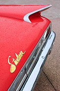 Liner Prints - 1960 Ford Galaxie Starliner Taillight Emblem Print by Jill Reger
