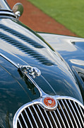 Badge Prints - 1960 Jaguar XK 150S FHC Hood Ornament 3 Print by Jill Reger